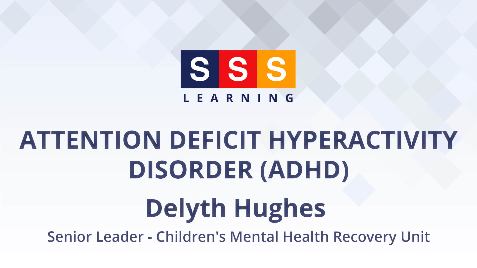 Delyth Hughes talks about children's mental health & wellbeing in relation to ADHD.
