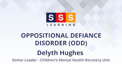 Delyth Hughes talks about children's mental health & wellbeing in relation to ODD